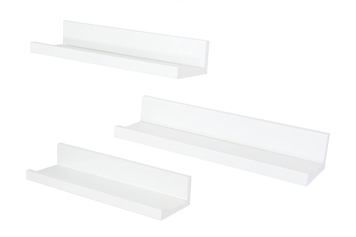 Set de 3 Estantes de Pared Decoration 35 x 10 cm, Blanco BD ART
