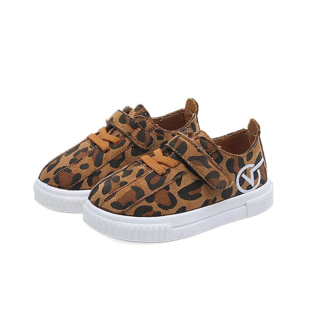 Newborn Canvas Shoes FAPIZI Fashion New Infant Baby Leopard Print Shoes Light Canvas Anti-Slip Soft Sneaker