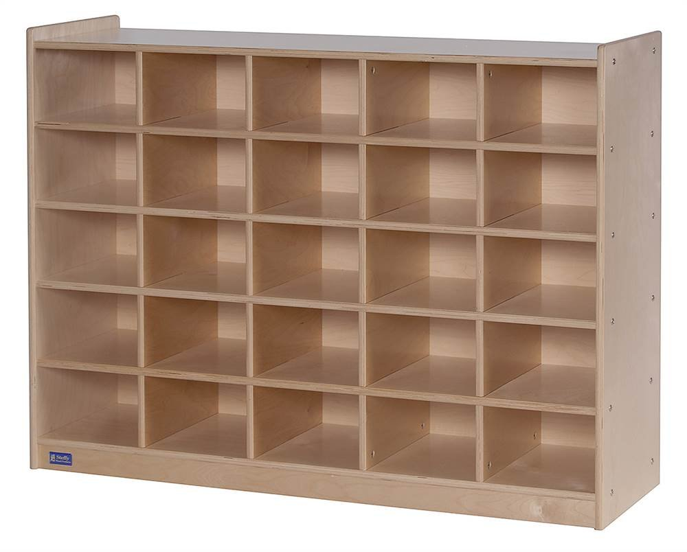 Steffy Wood Products 25-Tray Cubby Storage Cabinet