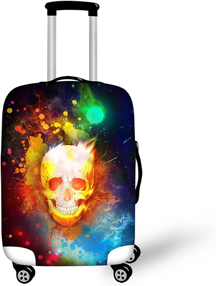 HUGS IDEA 18-30 Inch Fashion Skeleton Print Travel Luggage Covers Protectors