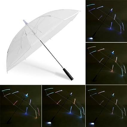 Paraguas Iluminado, LED Paraguas Ilumine el Paraguas llevado Paraguas Linterna para Andar con Seguridad en