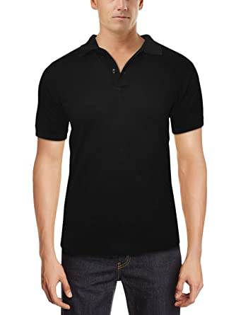 7db4454d No Logo Men''s Polo Shirt (Black-Small): Amazon.in: Clothing ...