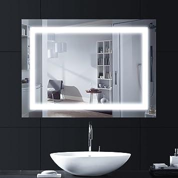 Lebright Badezimmerspiegel Mit Beleuchtung 60x80cm 18w Led