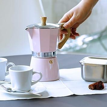 Gnali & Zani VEZ006/IND/PINK Venezia - Cafetera de espresso (6 ...