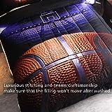 HTgroce 3D Basketball Court Comforter Quilt Set for Teen Boys Girls Twin Size(68''x86''),2PCS,1 Quilt+1 Pillow Sham