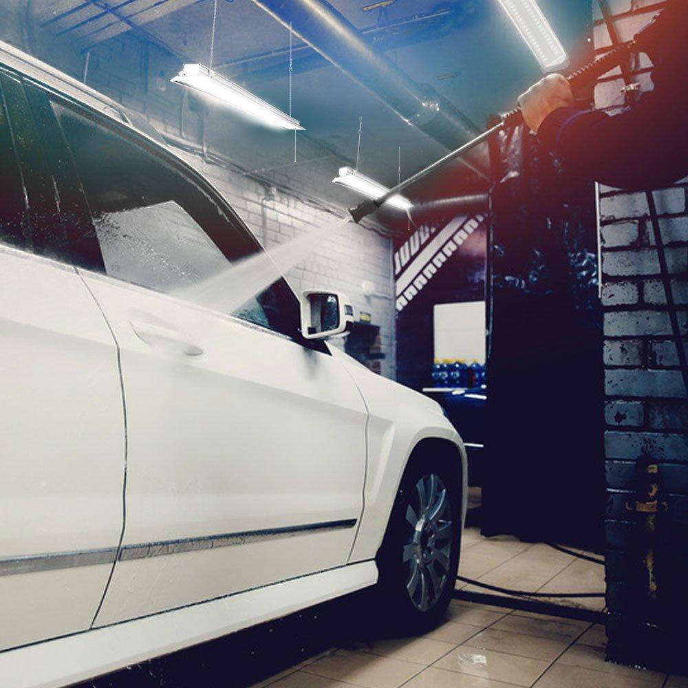 Sunco Lighting 10 PACK - ENERGY STAR 4ft 40W LED Utility Shop Light FLAT DESIGN 4500lm 120W Equivalent, LED Fixture, 5000K Daylight Ceiling Light, Garage/Basement/Workshop, Linkable, ETL, Clear by Sunco Lighting (Image #6)