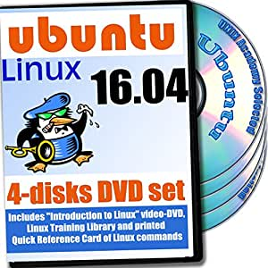 Ubuntu 16.04, 4-discs DVD Installation and Reference Set