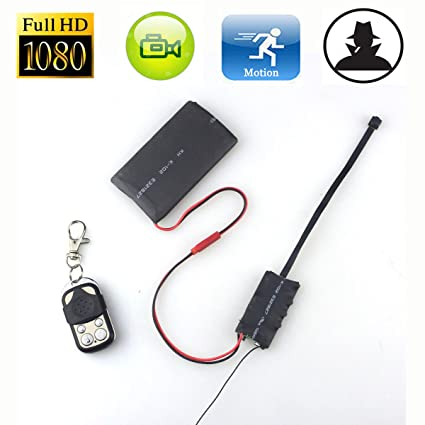 Electro-Weideworld - 1920x1080P HD Botón de Cámara Espía Mini DV Videocámara Detección de Movimiento