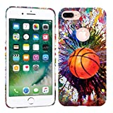 iPhone 7 Plus Case / iPhone 8 Plus Case - Vintage Color Basketball Hard Plastic Back Cover. Slim Profile Cute Printed Designer Snap on Case by Glisten