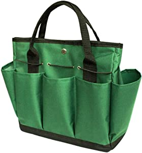 Garden Tote Bag Tool Storage Bag with 8 Pockets Oxford Gardening Lawn Carrier