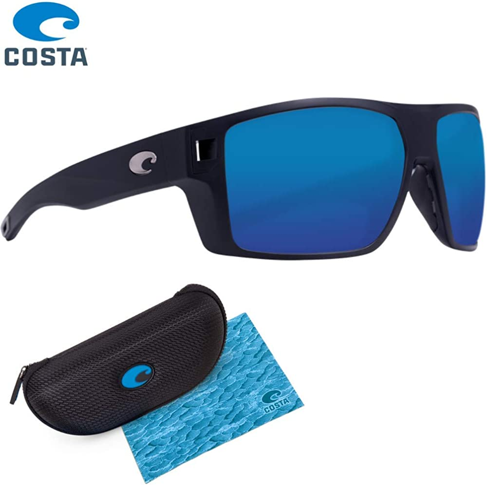 Matte Black//Blue Mirror 580G Polarized Glass Lenses Costa Diego Sunglasses