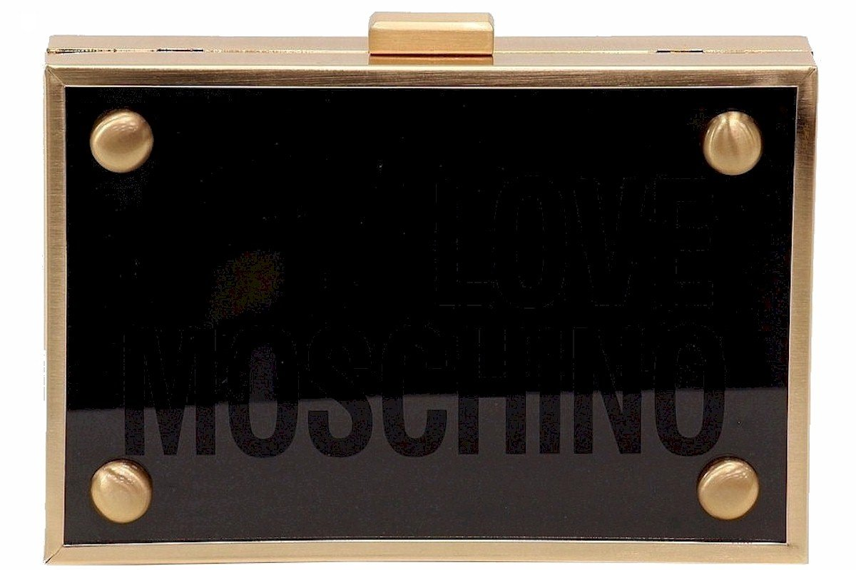 LOVE Moschino Women's Box Clutch Black Clutch