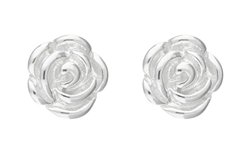 Adara Rose Stud Sterling Silver Earrings QkVwMfA