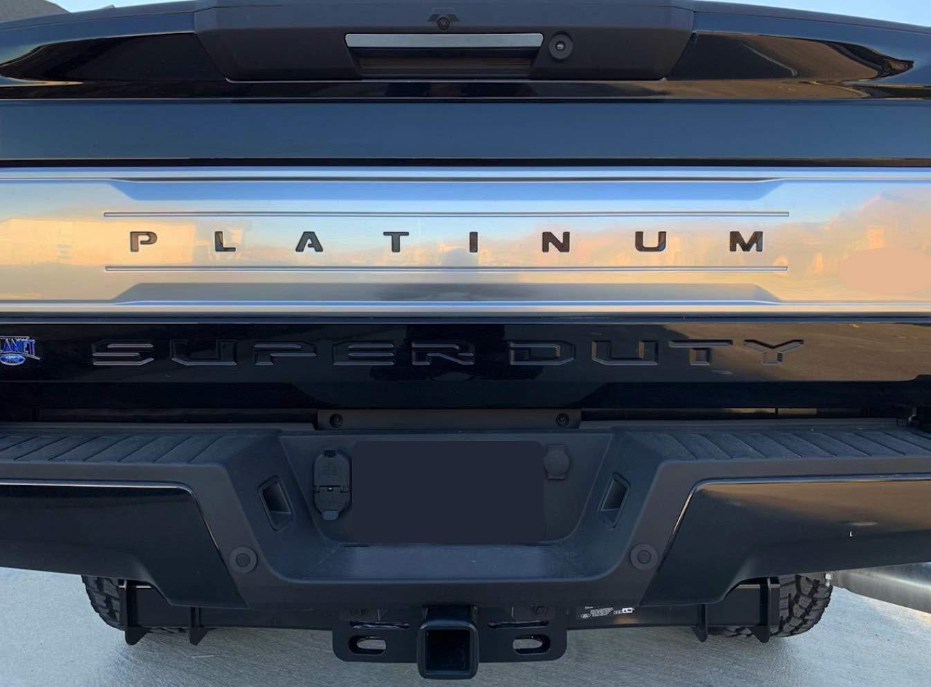 F-550 Models BDTrims F-350 F-450 Black Tailgate Plastic Letters Inserts fits 2017-2019 Platinum F-250