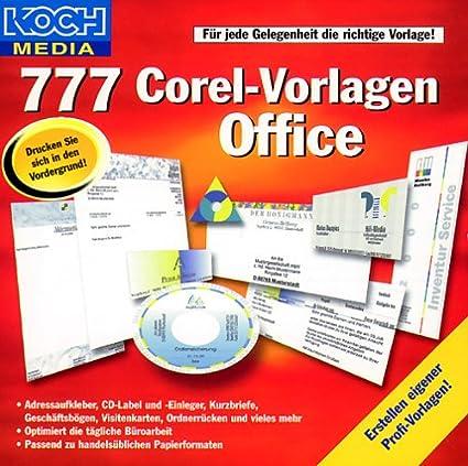 777 Corel Vorlagen Office Amazon De Software