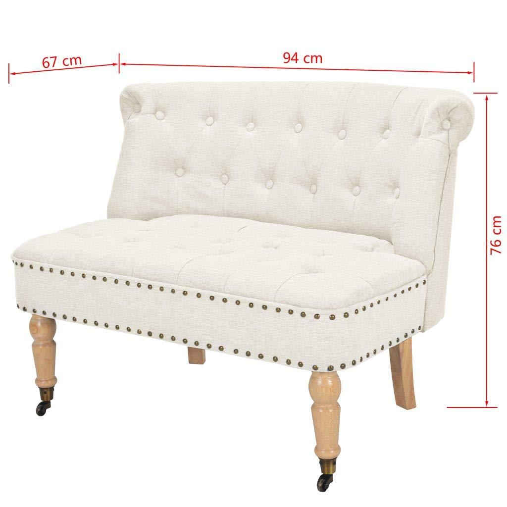 tiauant Mobiliario Sofás Sofa de 2 plazas de Tela 94x67x76 ...