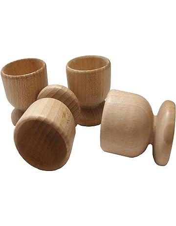Set de hueveras de madera de haya