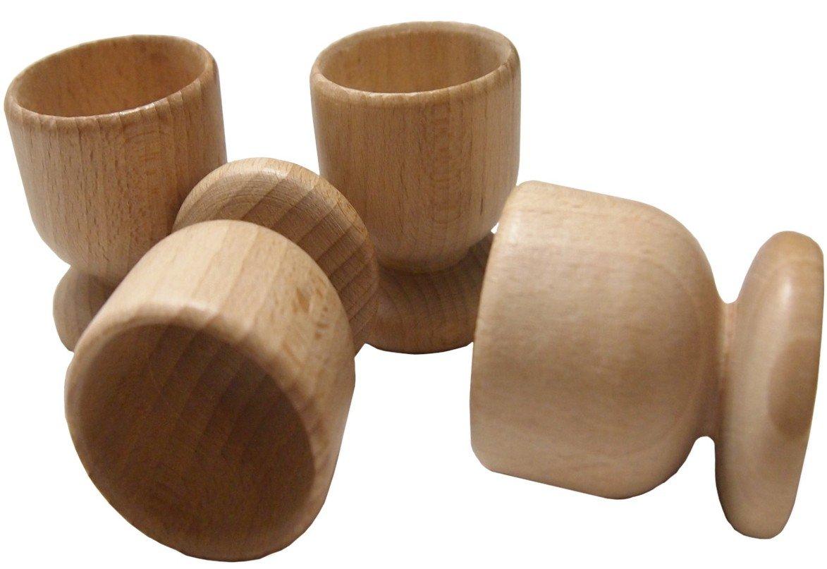 Beech wooden eggs cups set DB Gardentools