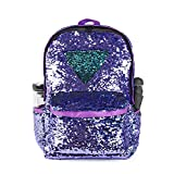 WOYYHO Magic Reversible Sequin School Backpack, Sparkly Lightweight Travel Bag with Mermaid Sequins