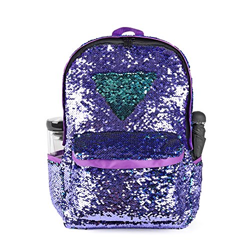 Little Angel Kids Backpack - WOYYHO Magic Reversible Sequin Backpack, Sparkly Lightweight Travel Bag With Mermaid Sequins For Girls/Boys, 17