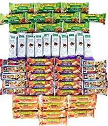 Sweet & Salty Healthy Snack Bar Box of 50 (Kashi, Nature Valley, Quaker)