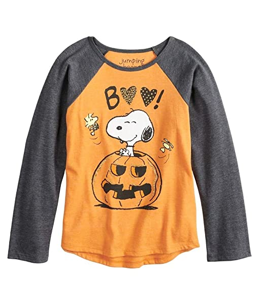 33c9db329 Jumping Beans Toddler Girls Peanuts Snoopy Boo Pumpkin Graphic Tee (4T)
