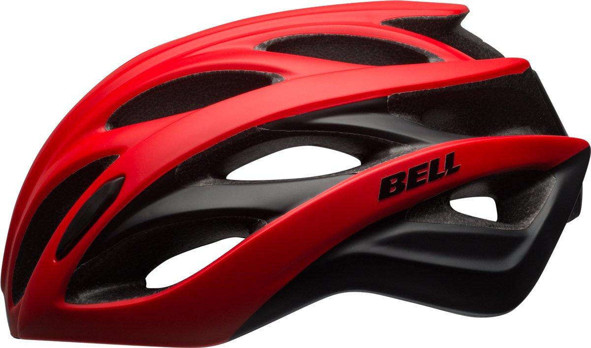 BELL Overdrive Rennrad Fahrrad Helm rot schwarz 2017