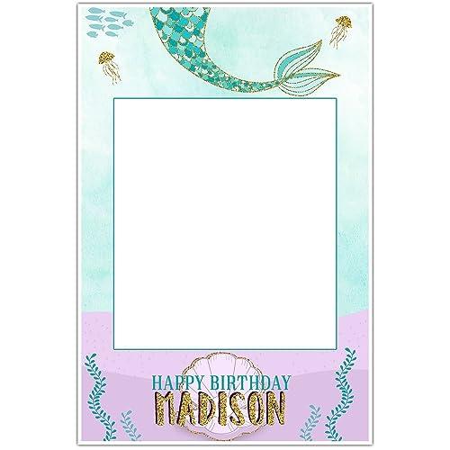 Amazon.com: Mermaid Birthday Selfie Frame Poster: Handmade