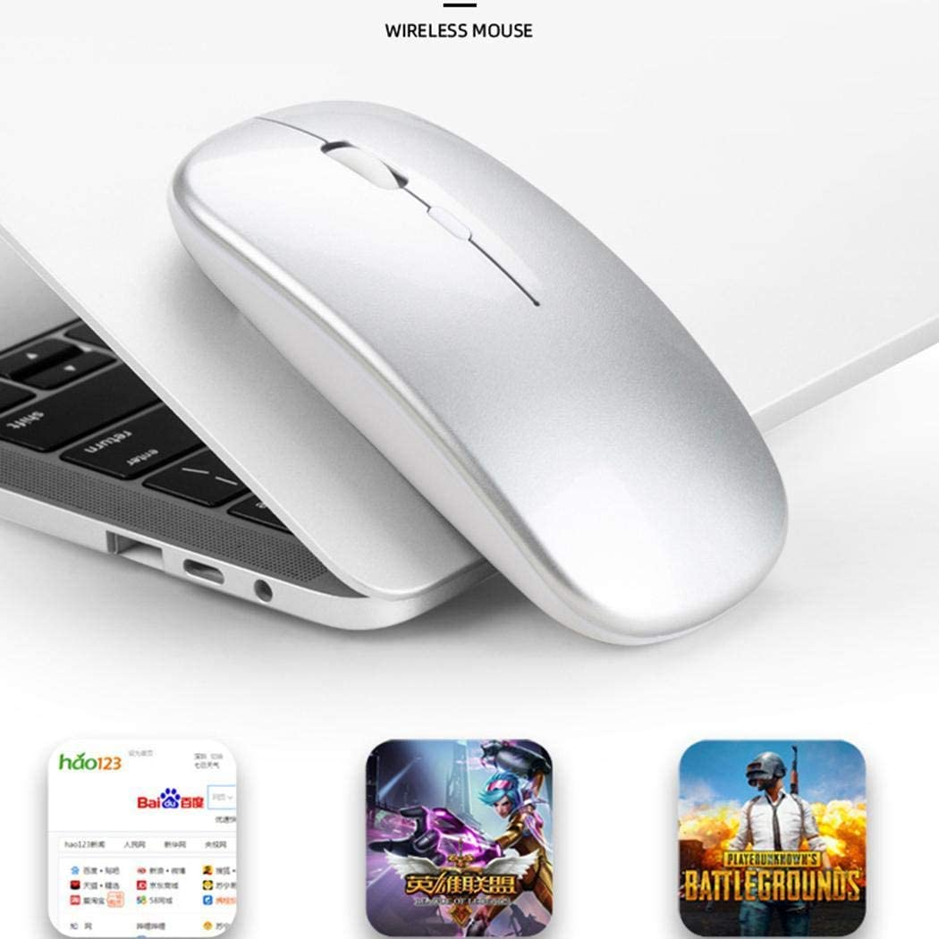 DREZZED New Bluetooth Dual Mode Rechargeable Mouse Mute Gaming Wireless Mouse Mice