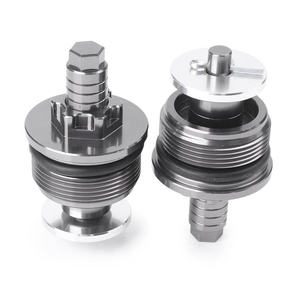 37MM CNC Aluminum Front shock absorber screw cover Cap Preload Adjusters Fork Bolts For Kawasaki Ninja 250R For CBR250 Alina-Shops
