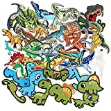 SIX VANKA Cool Dinosaur Patches 36pcs Random Assorted Iron On Embroidered Applique Sew on for Kids DIY Crafts Clothes Backpacks