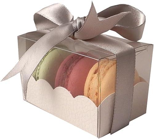 Cajas de macarrones franceses con manga - 3 capacidad macarons: 10 unidades: Amazon.es: Hogar