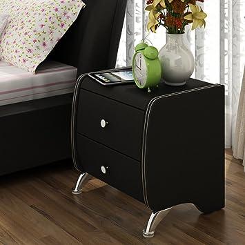 Charmant FJIWDTGYHFGT Moderne Minimalistische Nachttische,Schlafzimmer  Schließfächer,Weißes Leder Bett Beistelltische,Nachtschränke C
