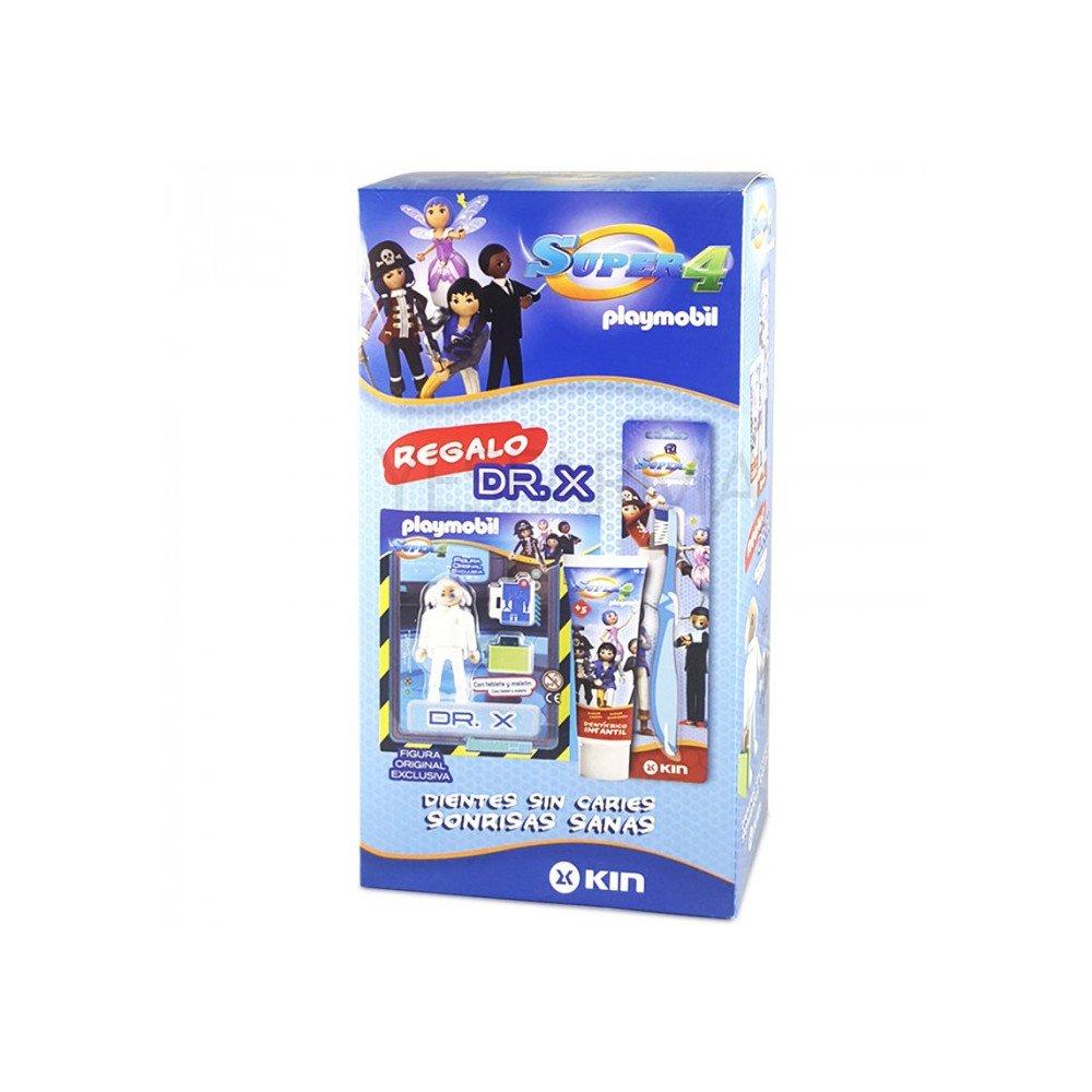 KIN SUPER 4 PLAYMOBIL PACK DE PASTA+CEPILLO+FIGURA PLAYMOBIL: Amazon.es: Salud y cuidado personal