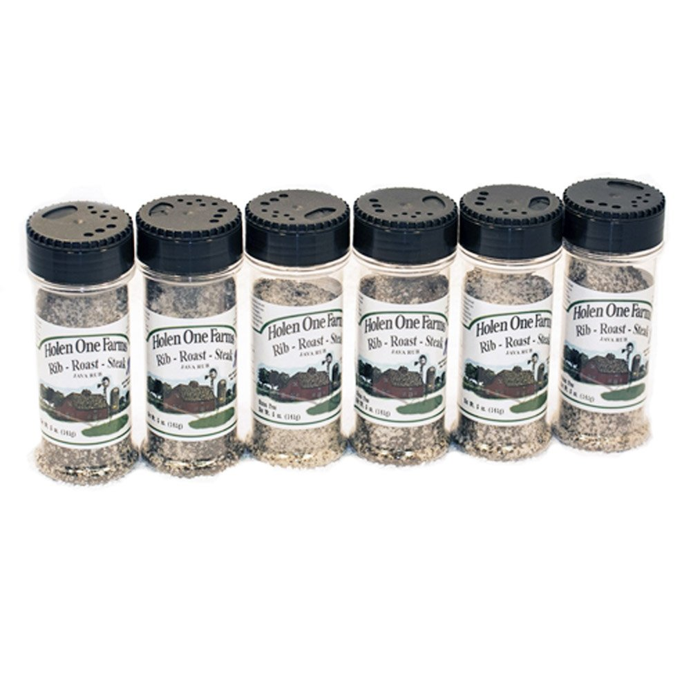 Holen One Farms Natural Gluten Free All Purpose Java Rub and Seasoning - Case of 6 - Proudly Made in the USA - Proudly Made in Nebraska