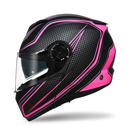 SX-ZZJ Cascos Casco - Casco Doble de la Motocicleta Casco Personalizado de la Motocicleta