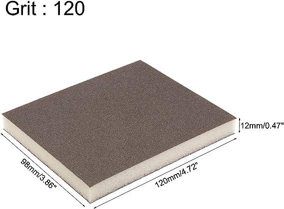 plastique ou cloison s/èche m/étal 6 blocs gris Maso /Éponge de pon/çage en mousse souple Blocs abrasifs avec patins de pon/çage /à double face humides et secs /à utiliser sur bois peinture