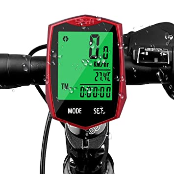 Cuentakilómetros, Aodoor Impermeable Pantalla LCD Ordenador para Bicicleta Inalámbrica Sensor de Movimiento para Bicicleta de
