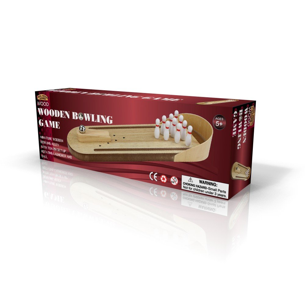 Real Wood Games Wooden Bowling Game by Real Wood Games
