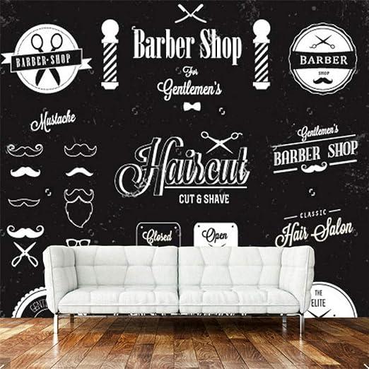 Xbwy Papel Tapiz 3D Moderno, Etiqueta De Barbería Y Mural De ...