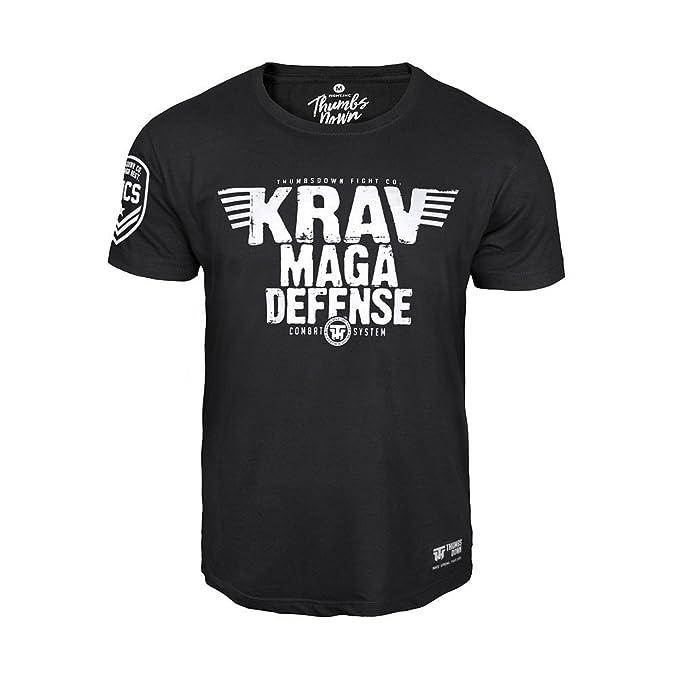 Thumbsdown Pulgares Down Krav Maga Combat Camiseta Israel Militar Sistema MMA. Gimnasio Entrenamiento. Marcial Artes Informal 18kD3y9rNd