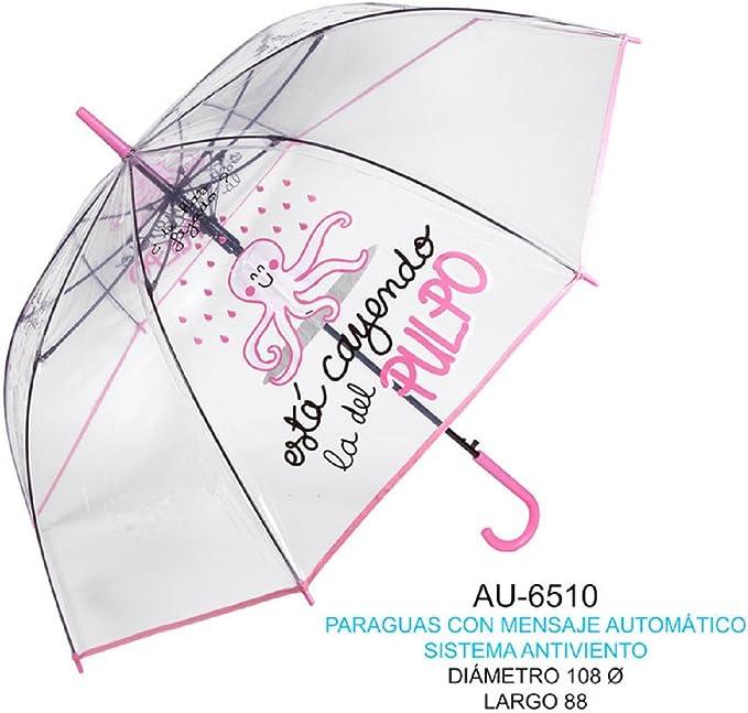 ROYMART Paraguas con Mensaje,Esta cayendo la del Pulpo Acampada y Senderismo, Adultos Unisex, Multicolor (Multicolor), Talla Única: Amazon.es: Deportes y aire libre