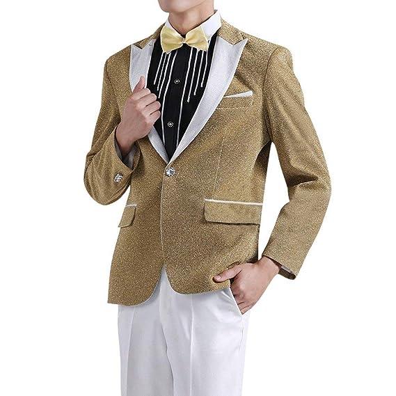 de0722f93 Men's Suit Jackets Tuxedos Prom Party Men's Fashion Glamorous Suit Clásico  Jacket Blazer Wedding Blazer Party