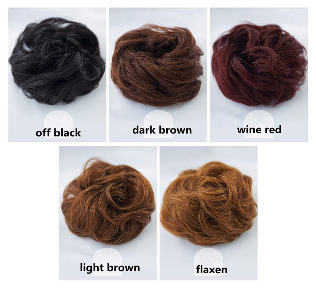 Amazon Seeya 100 Human Hair Scrunchie Bun Up Do Hair Pieces