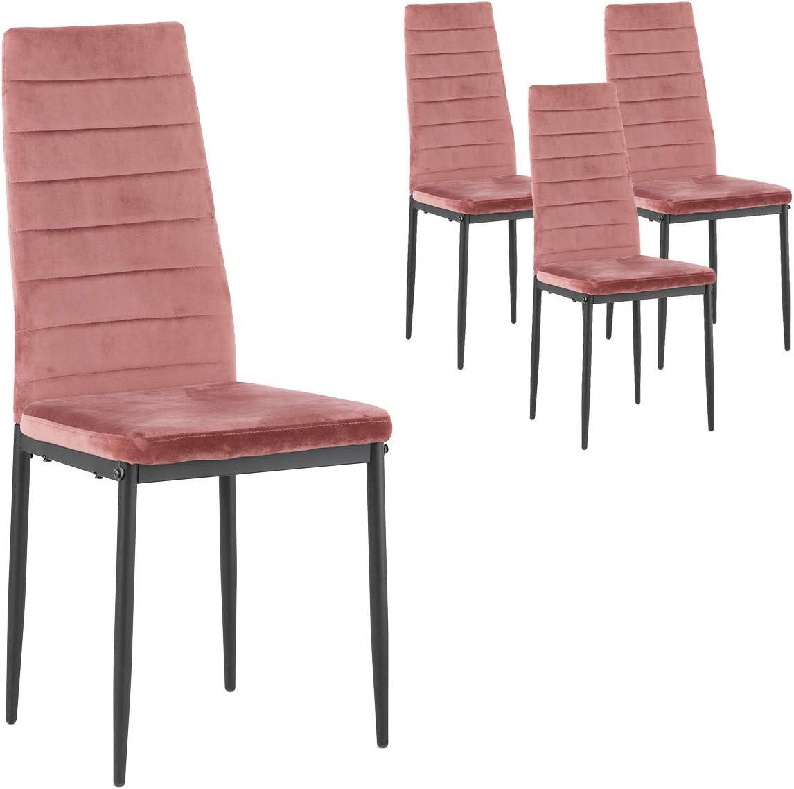 Aingoo Dining Chairs Velvet Seat and Ergonomic High Back Kitchen