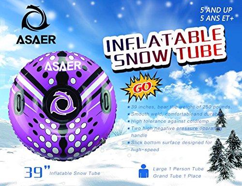 Asaer Snow Tube Air Tube 39 Inch Inflatable Snow Sled
