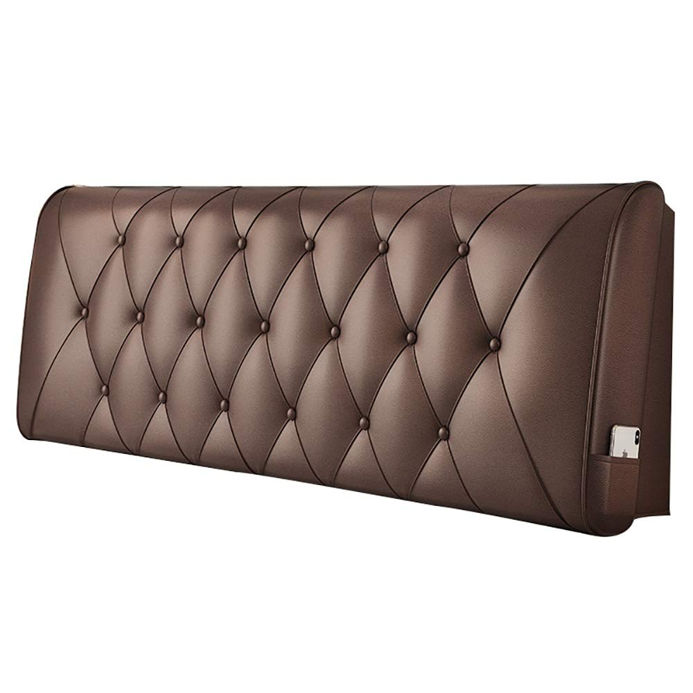 BROWN 1806010cm LXLIGHTS Headboard Bedside Cushion Bed Wedge Sofa Pillow Backrest Waist Pad Easy to Install, 8 colors, 5 Sizes (color   Pink, Size   90  60  10cm)