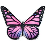 JWH 3D Animals Pillow Lifelike Butterfly Shape Cushion Stuffed Super Soft Short Plush Toy Decorative Home Bed Living Room Car Chair Children Gift 13 x 15 Inch Pink