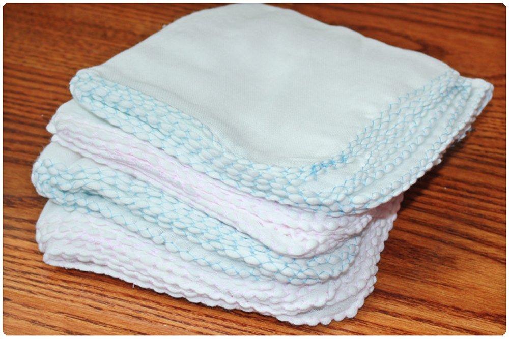 Dealglad® 10pcs/lot 100% gasa doble gasa pañuelo toallas de bebé recién nacido de alimentación de los lactantes toalla de saliva toalla de enfermería (los niños baño Rostro Lavado Paño De Limpieza (color al azar) DealgladUK