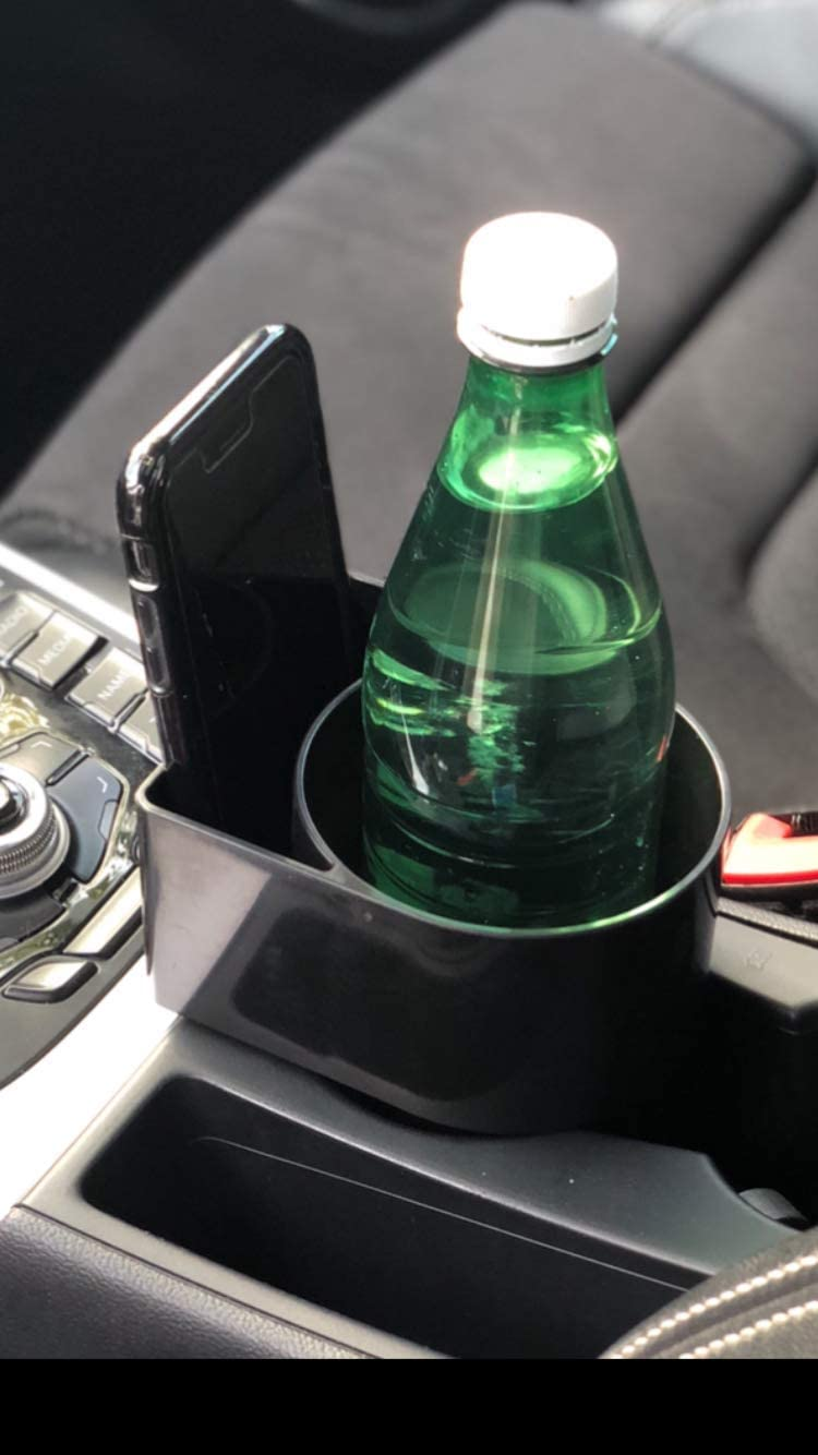 STAND-Bi Car Cup Holder Expander Water Bottle for Car Holds Phone Drink Beach Garnet Boat or Desk